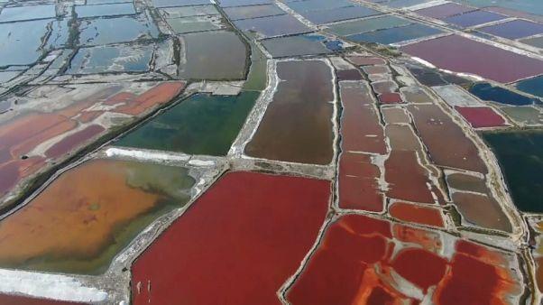 بحيرة يونتشنغ المالحة في مقاطعة شانشي في شمال الصين