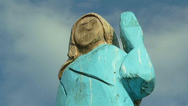 Estátua de Melania Trump causa espanto na Eslovénia