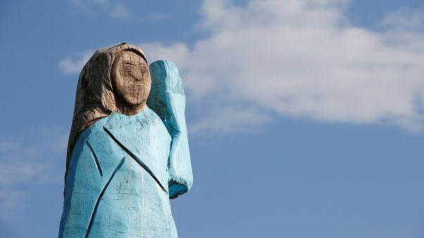 شاهد: تمثال خشبي لميلانيا ترامب قرب مسقط رأسها في سلوفينيا