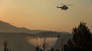 Incendios forestales en Grecia obligan a desalojar 4 aldeas