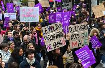 A November 24, 2018, demonstration against sexual and sexist violence in Paris, France