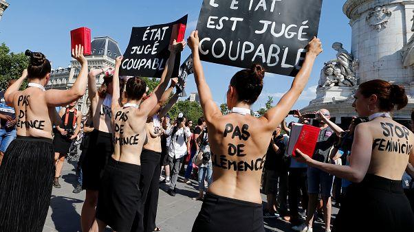 Protestos em Paris contra feminicídios