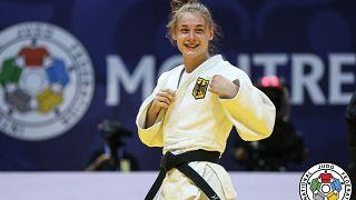 Die deutsche Judoka Giovanna Scoccimarro, Goldmedaillengewinnerin -70kg