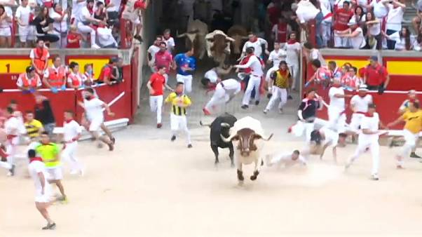Παμπλόνα: Τραυματίες στο τρέξιμο των ταύρων