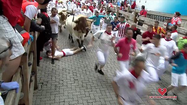ویدئو؛ افتتاحیه فستیوال گاوبازی؛ ۵ نفر مصدوم شدند