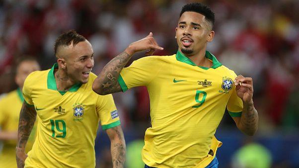 Brasil gana la final de la Copa América tras imponerse a Perú por 2-1