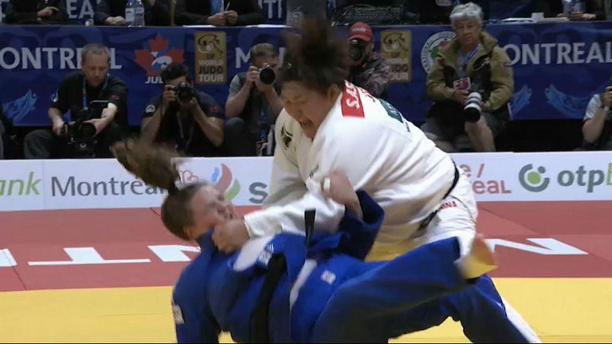 سارا آساهینا قهرمان جودو ژاپن در دسته سنگین وزن