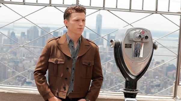 الممثل توم هولاند في نيويورك في صورة من أرشيف رويترز.