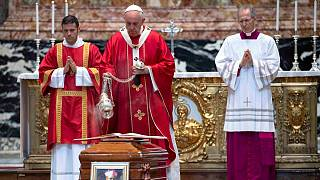 با حضور پاپ برگزار شد؛ ویژه مراسم دعا برای مهاجران در واتیکان