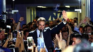 رئيس الوزراء اليوناني المنتخب كيرياكوس ميتسوتاكيس