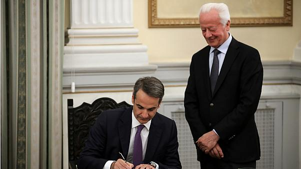 Watch: Greece's Kyriakos Mitsotakis is sworn in as prime minister