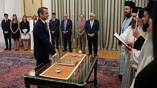 مراسم سوگند کیریاکوس میتسوتاکیس، نخست وزیر یونان