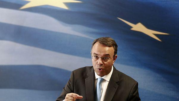 FILE PHOTO: Greece's Deputy Finance Minister Staikouras addresses reporters, 2014
