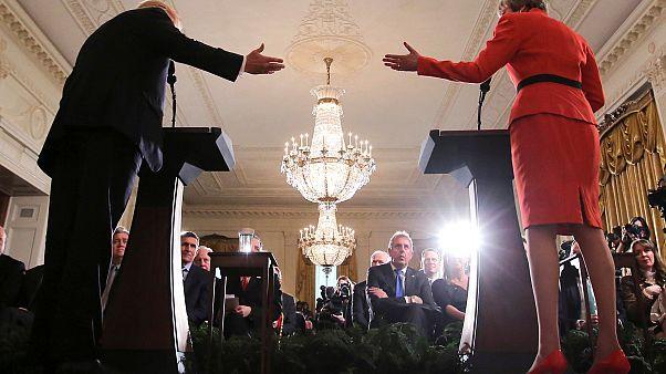 Trump und May bei gemeinsamer Pressekonferenz
