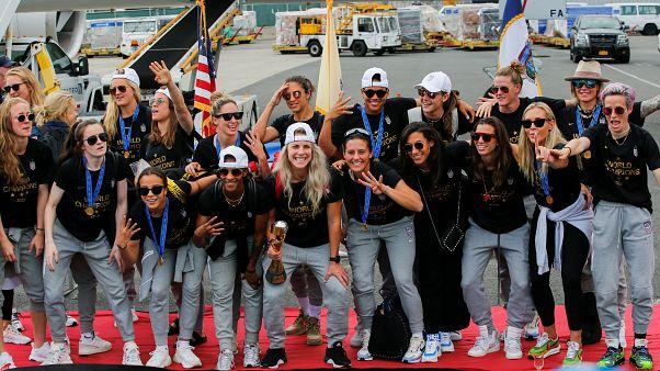 ΗΠΑ : Επέστρεψαν οι πρωταθλήτριες κόσμου