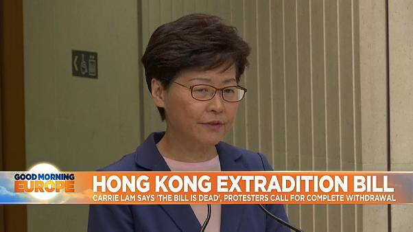 Hong Kong's Carrie Lam says controversial extradition bill is 'dead'