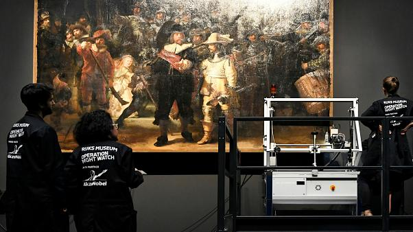 'The Night Watch': Major project to restore Rembrandt masterpiece gets underway in Amsterdam