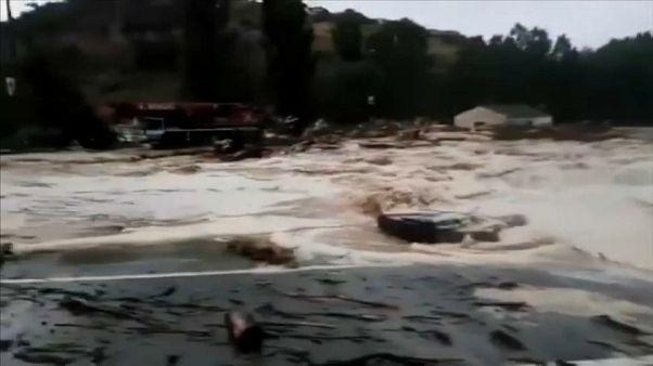 Schwere Überschwemmungen in Nordspanien