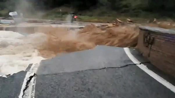 Watch: Unexpected flooding turns deadly in northeastern Spain
