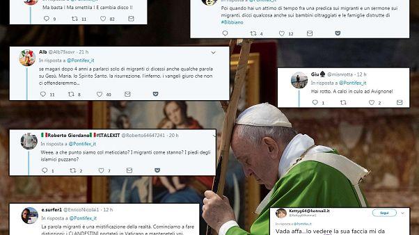 El Papa Francisco celebra una Misa para los migrantes en el sexto aniversario de su viaje a la isla de Lampedusa,.