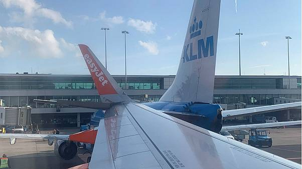 KLM and easyJet planes collide at Amsterdam airport
