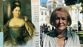 1. Katerina ve Katerina Sarayı Müdürü Olga Taratynova (sağda)