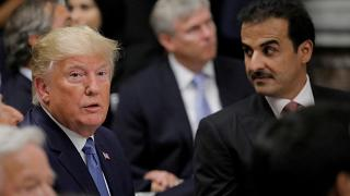 أمير قطر، الشيخ تميم بن حمد آل ثاني والرئيس الأمريكي دونالد ترامب