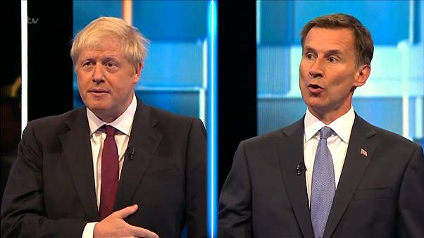 Die Kandidaten Boris Johnson (l.) und Jeremy Hunt (r.)