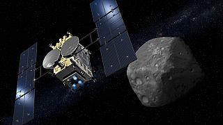 Hayabusa2 inişe geçti: Uzay aracı Ryugu asteroidinden örnekler toplayacak
