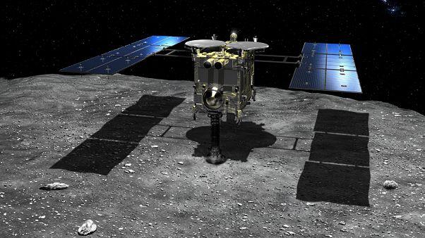 Japon Hayabusa2 300 milyon km uzaklıktaki asteroide ikinci kez indi
