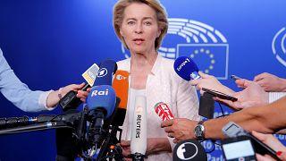Von der Leyen wirbt im EU-Parlament um Unterstützung