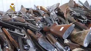 اليوم العالمي لتدمير الأسلحة: إسبانيا تتلف 50 ألف قطعة سلاح غير مرخّص العام الماضي