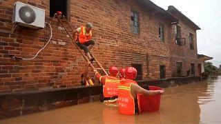 China: Große Schäden durch Überschwemmungen