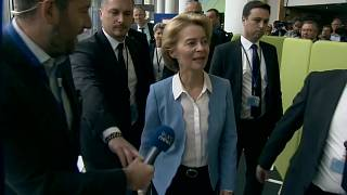 Euronews political editor Darren McCaffrey questions Ursula von der Leyen about her meetings with politcal groups in Brussels on Tuesday.