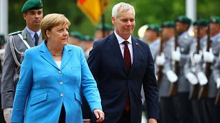 'I am fine', says Angela Merkel after third bout of shaking in under a month