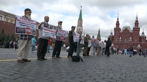 В Москве прошла акция в поддержку крымских татар