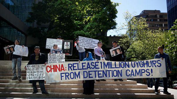 Kanada'da Çin'in Uygur politikalarına protesto gösterisi