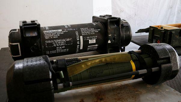 صاروخ جافلين في طرابلس يوم 29 يونيو حزيرن 2019