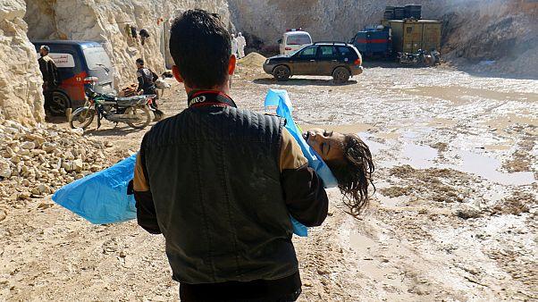 Suriye'de kimyasal saldırı bölgesi