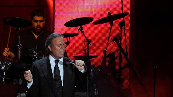 Spanish singer Julio Iglesias performing on December 28, 2012.
