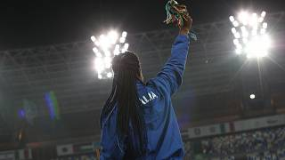 Atletica Leggera, lancio del disco premiazione Osakue Daisy medaglia d'oro - Stadio San Paolo, Napoli 9 Giugno 2019 - PHOTO POOL FOTOGRAFI UNIVERSIADE 2019