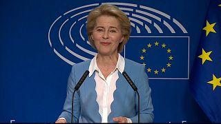Von der Leyen courts MEPs in bid for EU's top job