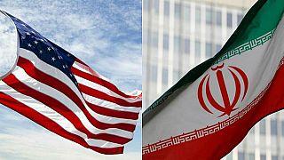 ABD ve İran bayrakları