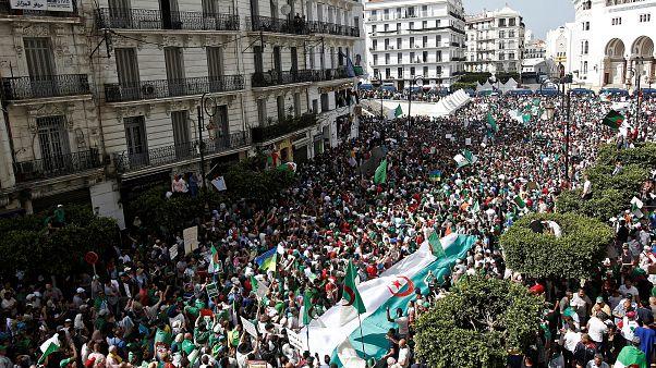 جانب من مسيرة في الجزائر العاصمة