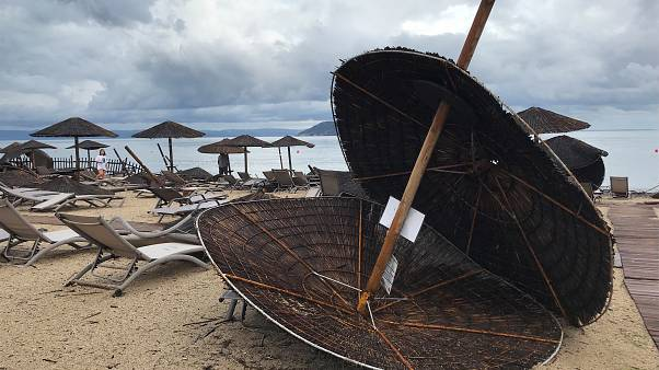 Καταστροφές στο Πόρτο Καρράς στην Χαλκιδική