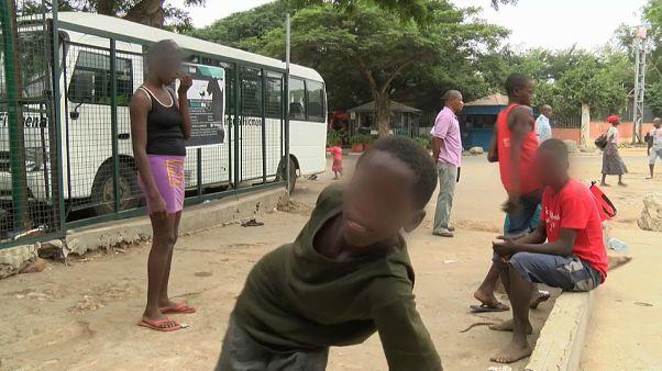 Les enfants des rues en Angola