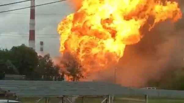 ВИДЕО | Один человек погиб при пожаре на ТЭЦ в Мытищах