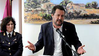 """ماتيو سالفيني وزير الداخلية الإيطالي وزعيم حزب """"الرابطة"""" اليميني المتطرف"""