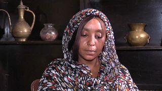 ماهي أبا يزيد، إحدى المحتجات التي تعرضت للضرب سابقاً