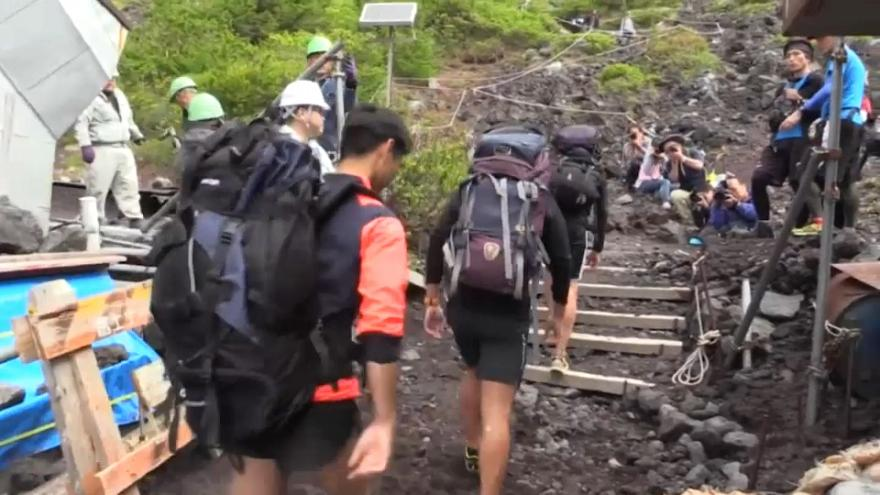 Three major trails on Mount Fuji have opened to trekkers for the summer climbing season